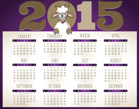 creative calendar15 vector design set