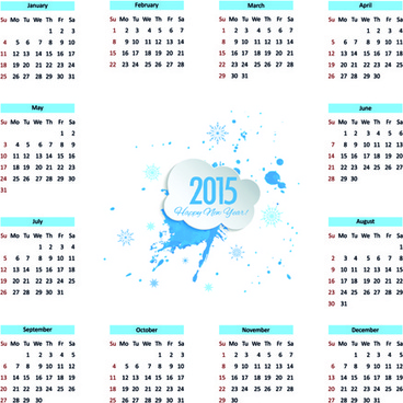 creative calendar15 vector design set