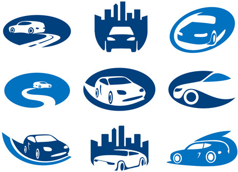 creative car logos design vector