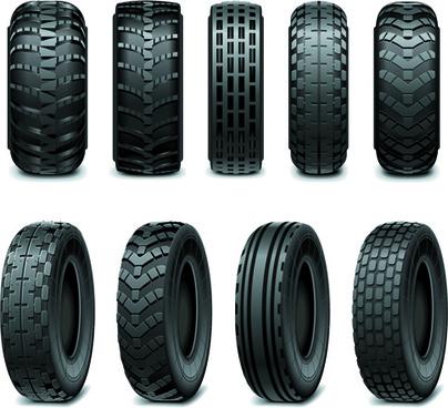 creative car tires vector design