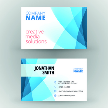 Creative Cards Business Media Vector Set