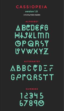 creative cassiopeia text design vector