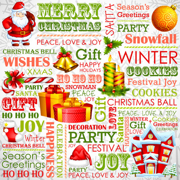 English christmas fonts free vector download (9,063 Free vector) for ...