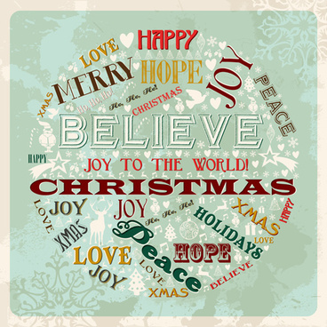 creative christmas font vector background