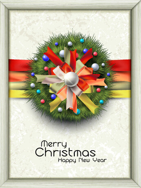 creative christmas frame background vector design