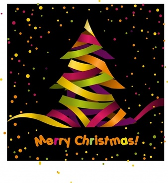 creative christmas star background vector