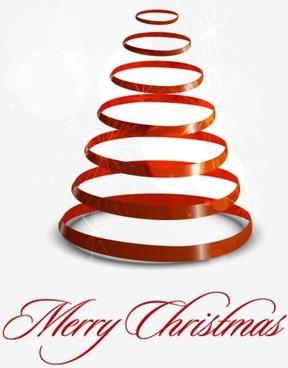creative christmas tree 05 vector