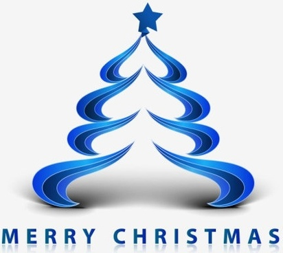 creative christmas tree 06 vector