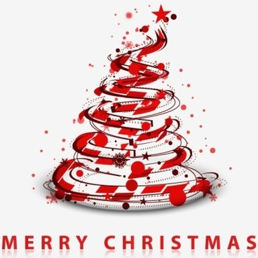 creative christmas tree 07 vector