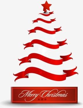 creative christmas tree 08 vector