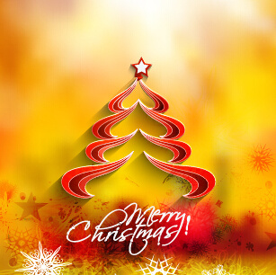 creative christmas tree blurs background graphics vector