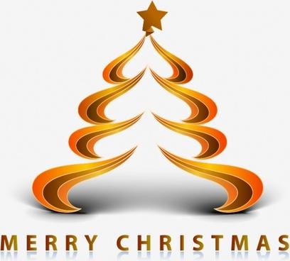 creative christmas tree christmas star vector color bar