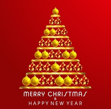 creative christmas tree design background set