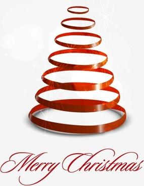 creative christmas tree vector color bar