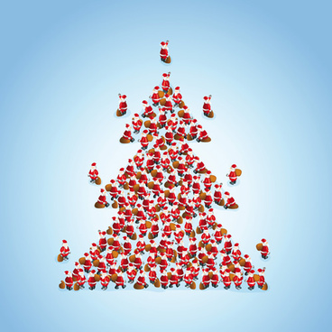 creative christmas tree xmas background vector