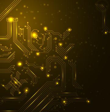 creative circuit board concept background vector