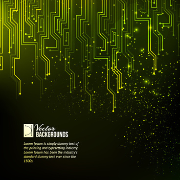 creative circuit board concept background vector