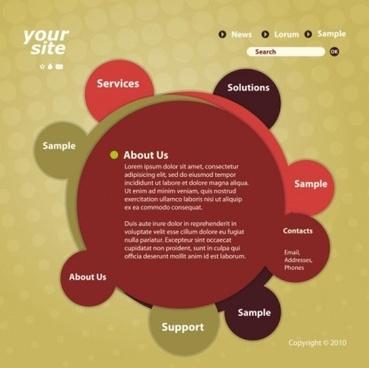 creative circular web template vector