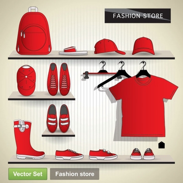 creative clothes design elements vector set