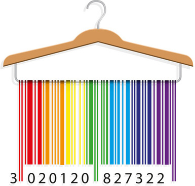 creative clothes hangers design elements vector