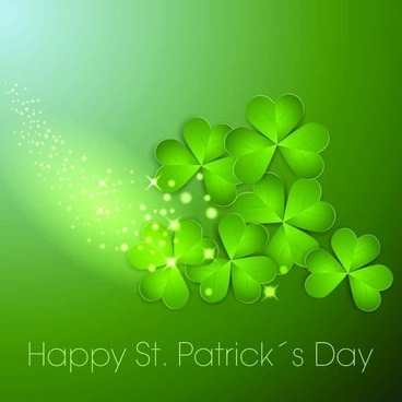Creative Clover vector Background