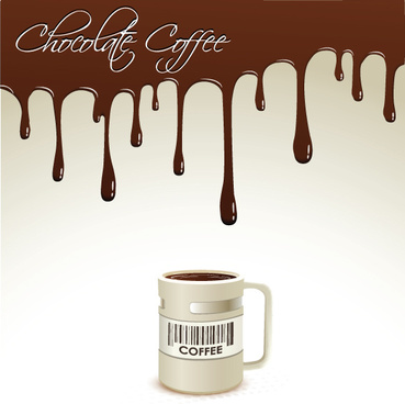 creative coffee art backgrounds vector