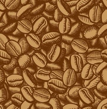 creative coffee beans pattern vector grephics