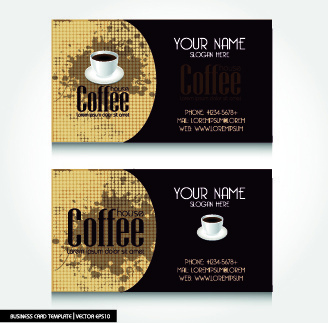 creative coffee business card vector