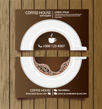 creative coffee house business cards vector graphic