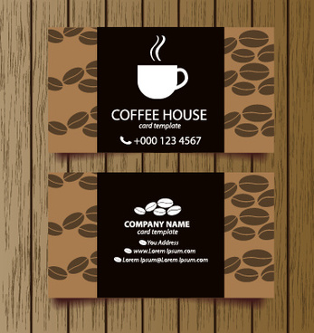 Coffee shop business card free vector download 25184 free vector creative coffee house business cards vector graphic wajeb