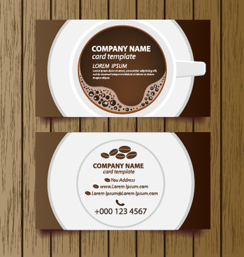 Coffee shop business card free vector download 24972 free vector creative coffee house business cards vector graphic reheart
