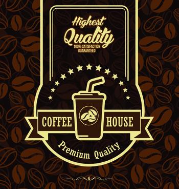 creative coffee house poster vectors graphics