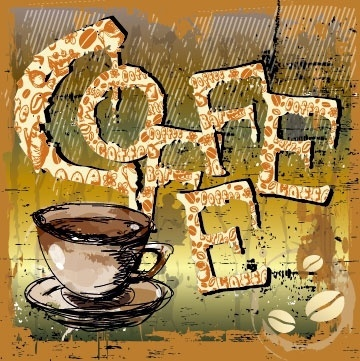 creative coffee illustrator 05 vector