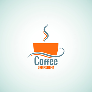 creative coffee menu logo vector