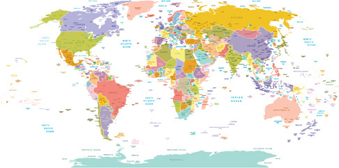 Free Map Of The World.Colorful World Map Free Vector Download 30 847 Free Vector For