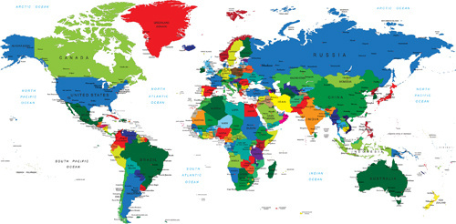 Creative Colored World Map Vector