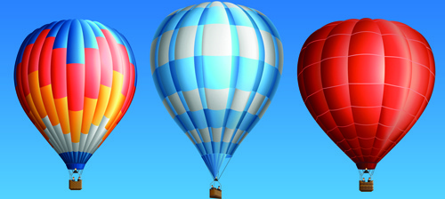 creative colorful hot air balloons vector