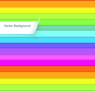 creative colorful lines business template vector