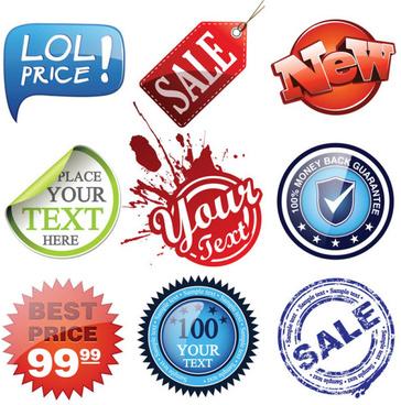 creative commercial label vector