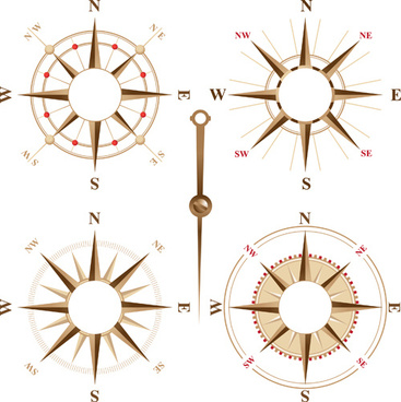 creative compass design elements vector