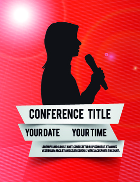 creative conference poster vector