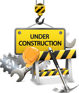 creative construction sign with tool vector