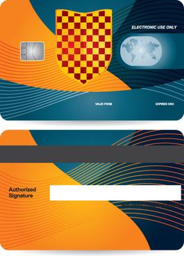 creative credit card design vector