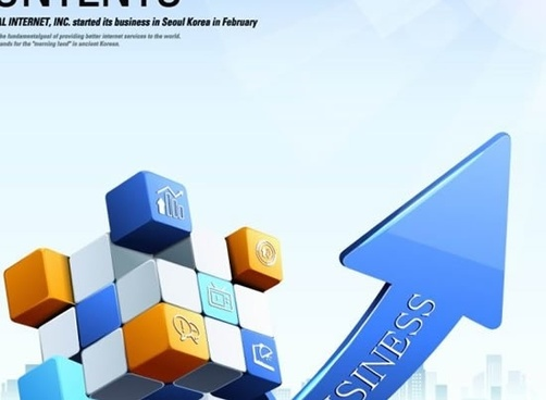 business background template colorful dynamic cubes arrow 3d