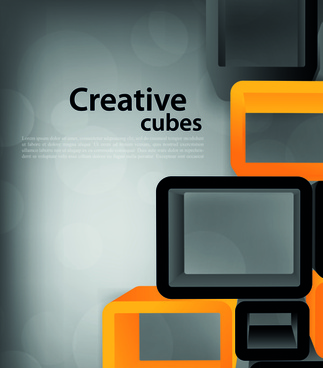 creative cubes art vector backgrounds