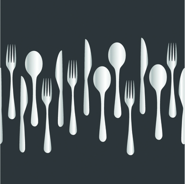 creative cutlery pattern seamless vector