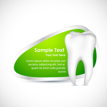 creative dental care background vector