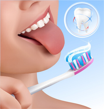 creative dental care elements vectors