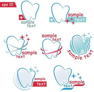 creative dental logos design graphic vector