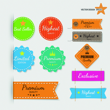 creative discount banner and sticker vector